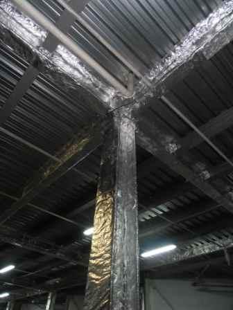 Конструктивная огнезащита металла Бизон на основе базальта