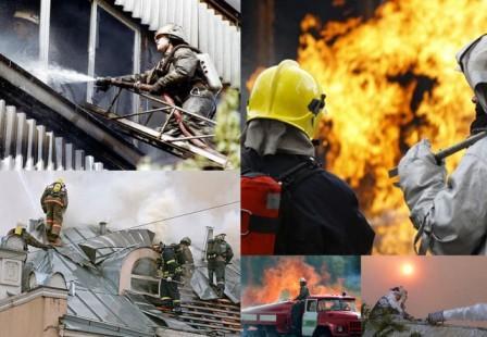 Оборудование для пожарных. Лестницы, муфты, огнетушители, рукова.