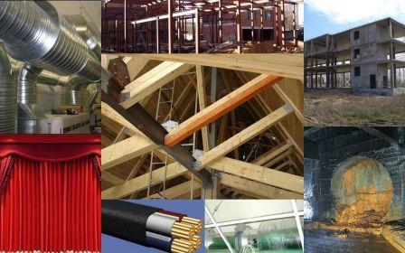 Огнезащитная обработка строительных конструкций.